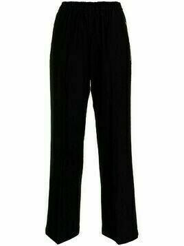 Comme Des Garçons Pre-Owned wide-legged cropped trousers - Black