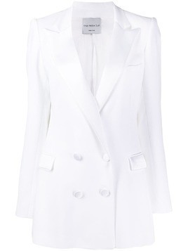 Hebe Studio bianca double breasted blazer - White