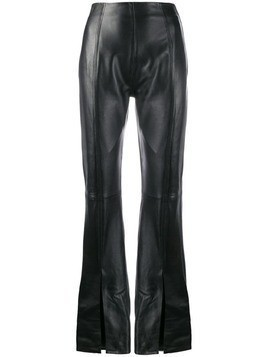 16Arlington flared leather trousers - Black