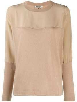 Max & Moi panelled jumper - Brown