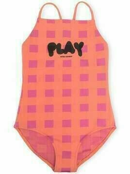 Bobo Choses checked low-back swimsuit - Pink