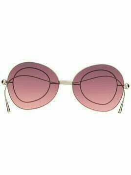 Percy Lau oversize-lense sunglasses with circular arm detail - PURPLE