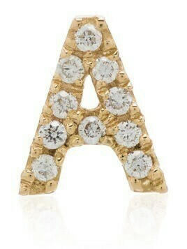 Loquet 18K yellow gold A initial diamond charm