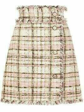 MSGM A-line tweed skirt - PINK