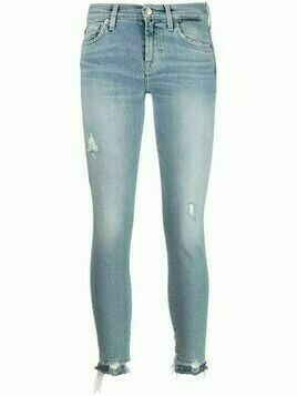 7 For All Mankind mid-rise skinny jeans - Blue