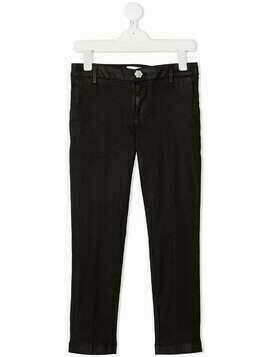 Dondup Kids rhinestone-embellished skinny trousers - Black