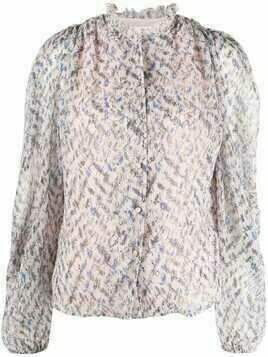 Lala Berlin floral-print pleated blouse - Pink