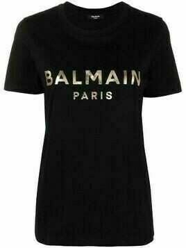 Balmain buttoned shoulder logo T-shirt - Black