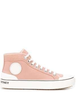 Stella McCartney Stella logo high-top sneakers - PINK