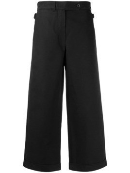 Margaret Howell cropped wide leg trousers - Black