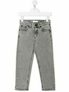 Dondup Kids bleach washed slim-fit jeans - Grey