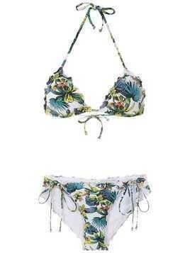 Amir Slama tropical pattern bikini set - White