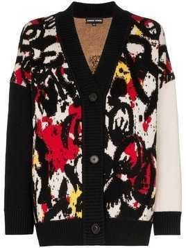 Angel Chen paint splatter cardigan - Multicoloured