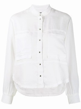 Diesel fluid shirt with knitted detail - White