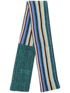 M Missoni lurex stripe scarf - Green