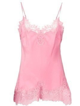 Gold Hawk lace trim slip top - Pink