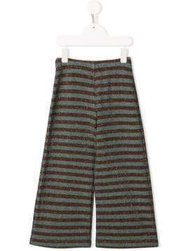 Caffe' D'orzo Sara lamé striped trousers - Blue