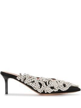 Rochas crystal-embellished mules - Black