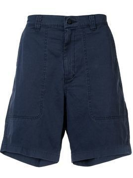 Bassike straight-leg Bermuda shorts - Blue