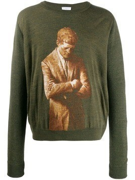 Ih Nom Uh Nit jacquard Kennedy jumper - Green