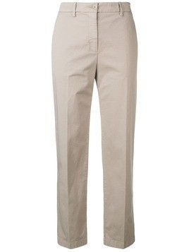 Aspesi cropped slim-fit trousers - Neutrals