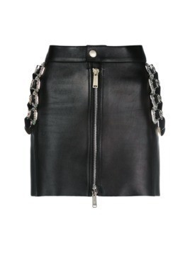 Dsquared2 mini skirt with belt embellishments - Black