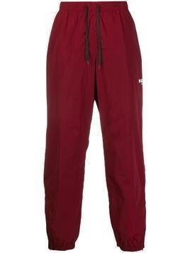 MSGM logo print track trousers - Red
