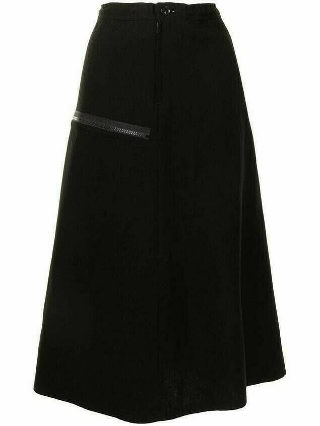 Y's a-line skirt with zip pocket - Black