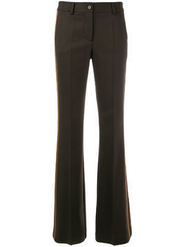 P.A.R.O.S.H. side stripe bootleg trousers - Brown