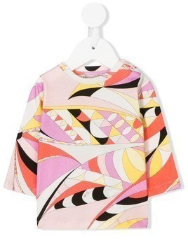 Emilio Pucci Junior long-sleeve printed T-shirt - Pink & Purple