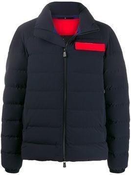 Moncler Grenoble panelled logo plaque padded jacket - Blue