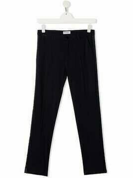 Paolo Pecora Kids TEEN side strap trousers - Blue