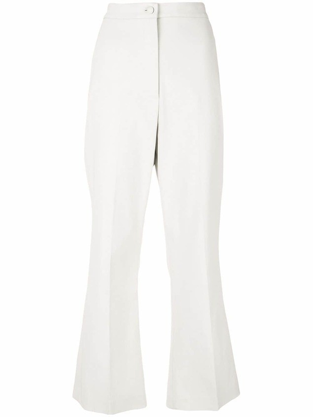Partow high-rise flared trousers - NEUTRALS