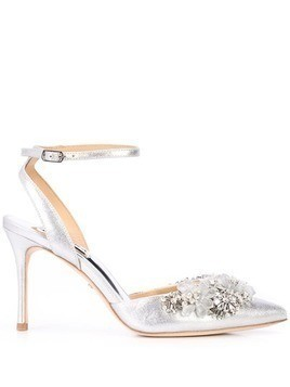 Badgley Mischka embellished Alice II pumps - Silver
