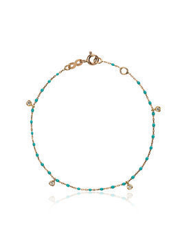 Gigi Clozeau 18k rose gold turquoise diamond bracelet - Blue