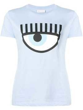 Chiara Ferragni eye crewneck T-shirt - Blue