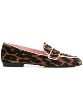 Pretty Ballerinas leopard print loafers - Brown