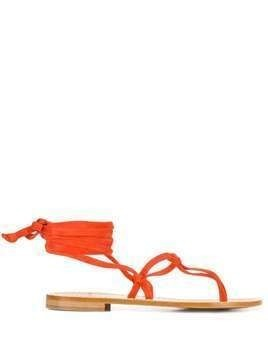 P.A.R.O.S.H. lace-up thong sandals - ORANGE