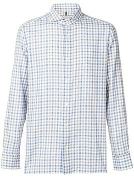 Borrelli checked button shirt - White