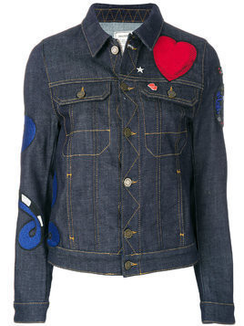 Zadig & Voltaire heart patch denim jackets - Blue