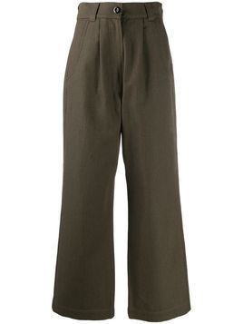 Margaret Howell wide leg trousers - Green