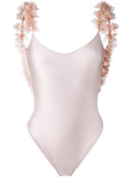 La Reveche floral applique swimsuit - Pink