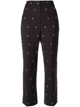 Tibi embroidered ant trousers - Blue