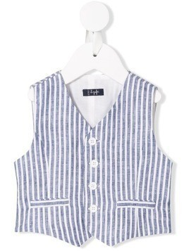 Il Gufo fitted striped waistcoat - Blue