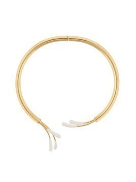 Marni enamel detail collar necklace - Metallic