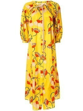 Borgo De Nor floral oversized dress - Yellow