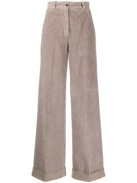 Pt01 wide-leg corduroy trousers - NEUTRALS