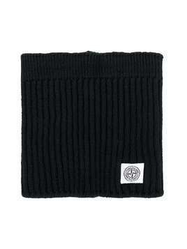 Stone Island Junior knitted tube scarf - Black
