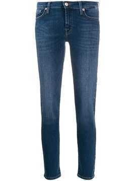 7 For All Mankind studded skinny jeans - Blue