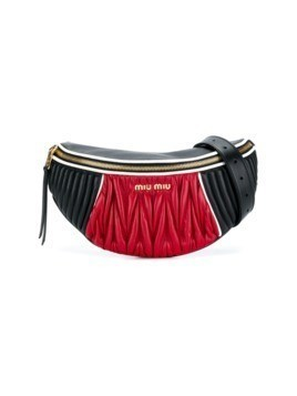 Miu Miu matelass leather belt bag - Black